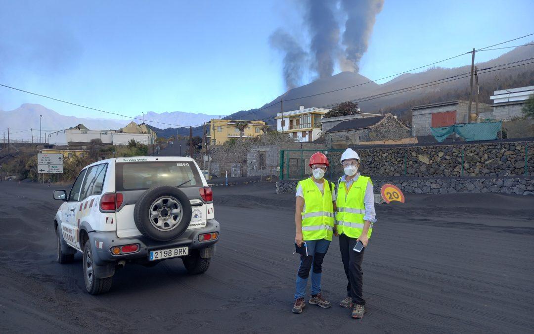 Investigadores de la Universidad de La Laguna realizan trabajos en la erupción de La Palma